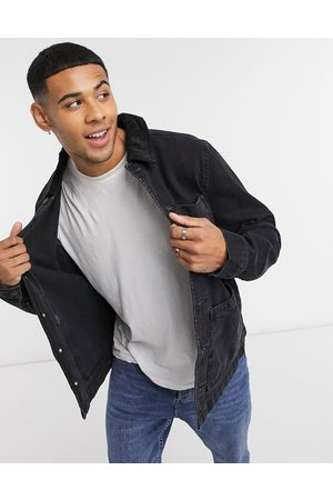New Look Denim jacket in with cord collar
