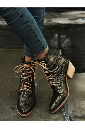 YOINS Casual Lace-up Boots