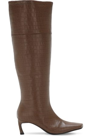 Reike Nen 60mm Crocker Embossed Leather Tall Boots