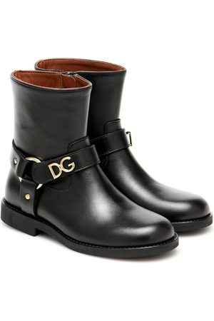 Dolce & Gabbana Embellished leather ankle boots