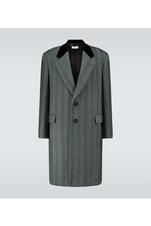 DRIES VAN NOTEN Herringbone single-breasted coat