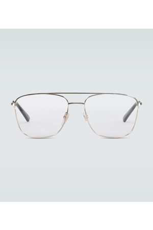 Gucci Square-framed aviator glasses