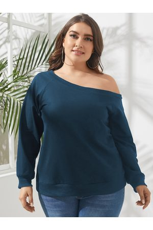 YOINS Plus Size One Shoulder Long Sleeves Blouse
