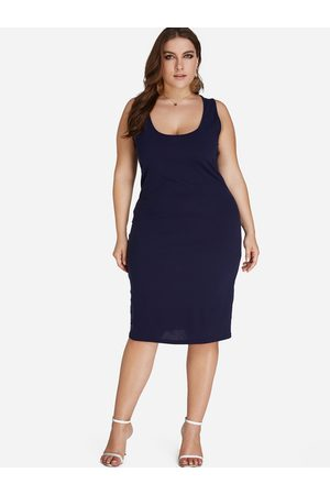 YOINS Plus Size Tank Bodycon Dress