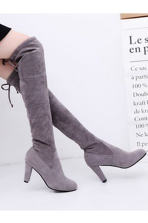 YOINS Fashion Suede Knee High Boots