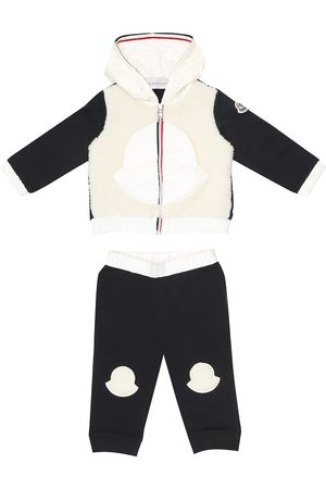 Moncler Baby cotton and faux shearling tracksuit