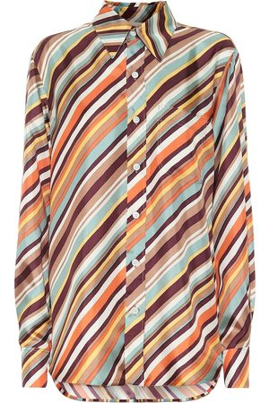 Marni Striped silk-twill shirt