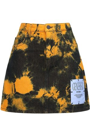 McQ Genesis Ii Tie Dyed Cotton Mini Skirt