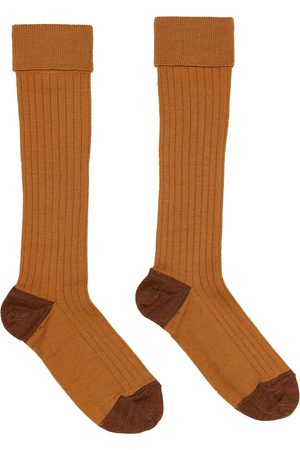 Caramel Baby Child Rib cotton-blend socks