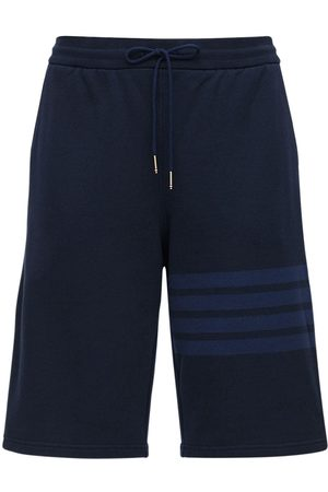 Thom Browne Men Shorts - Tonal 4 Bar Cotton Sweat Shorts