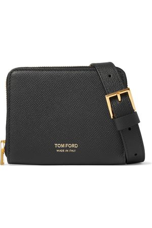 Tom Ford Men Wallets - Full-Grain Leather Zip-Around Wallet with Lanyard