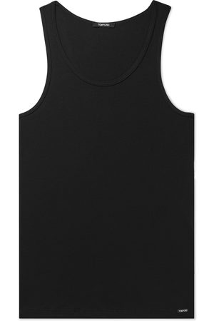 Tom Ford Ribbed Mélange Cotton and Modal-Blend Tank Top