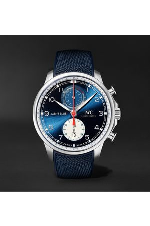 IWC SCHAFFHAUSEN Orlebar Brown Portugieser Yacht Club Automatic Chronograph 44.6mm Stainless Steel and Canvas Watch, Ref. No. IW390704