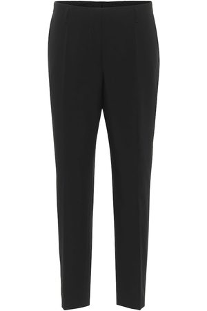 DRIES VAN NOTEN High-rise wool slim pants
