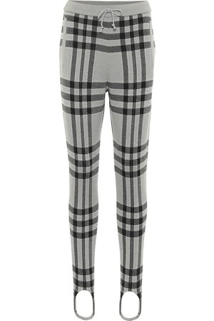 UNDERCOVER Checked wool stirrup pants