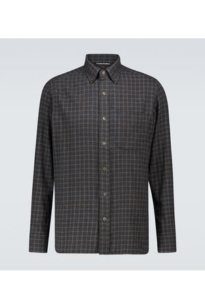 Tom Ford Cotton flannel checked shirt