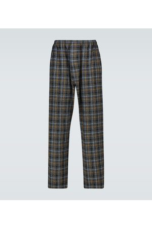 UNDERCOVER Checked wool pants