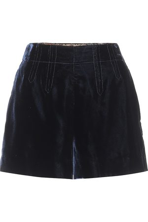 Etro Exclusive to Mytheresa – High-rise velvet shorts