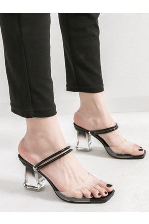 YOINS Sheer Crystal Transparent Rhinestone Sandals