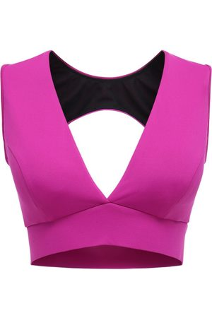 MICHI Flare Magenta Bra Top