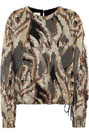 DRIES VAN NOTEN Sequined blouse