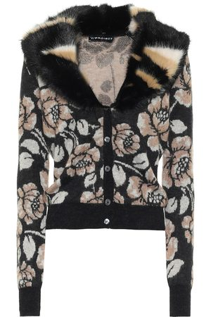 Y / PROJECT Floral mohair-blend cardigan