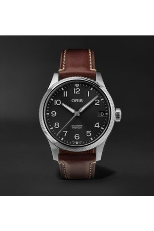 Oris Big Crown ProPilot Big Date Automatic 41mm Stainless Steel and Leather Watch, Ref. No. 01 751 7761 4065-07 6 20 07LC