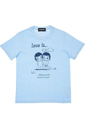 Dsquared2 Girls T-shirts - Love Is Capsule Print Jersey T-shirt