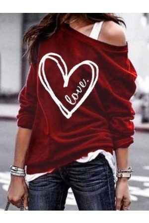YOINS Graphic Design Long Sleeves Round Neck Tee