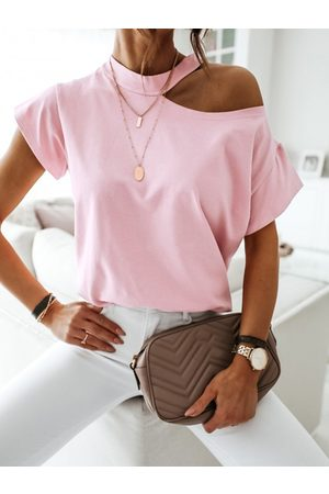 YOINS Cold Shoulder Short Sleeves Tee