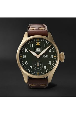IWC SCHAFFHAUSEN Men Watches - Big Pilot's Big Date Spitfire 'Mission Accomplished' Limited Edition Hand-Wound 46.2mm Bronze and Leather Watch, Ref. No. IW510506