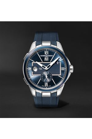Ulysse Nardin Men Watches - Dual Time Automatic 42mm Stainless Steel and Rubber Watch, Ref. No. 243-20-3/43
