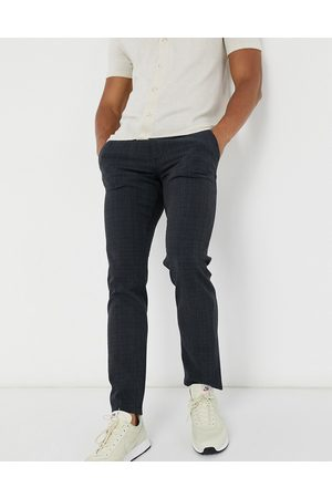 Selected Slim fit trouser in check