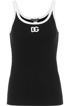 Dolce & Gabbana Stretch-cotton jersey tank top