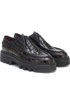 DRIES VAN NOTEN Croc-effect leather Derby shoes