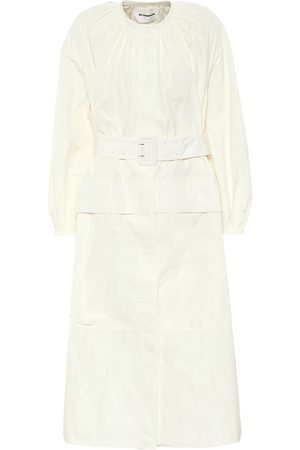 Jil Sander Belted poplin midi dress