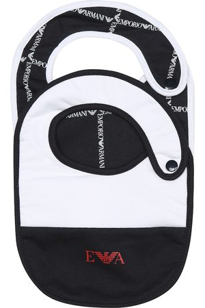 Emporio Armani Baby set of cotton bibs