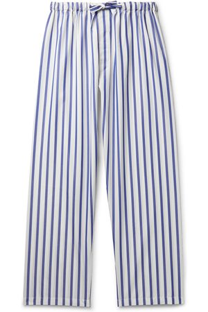 Paul Stuart Men Pyjamas - Striped Cotton-Poplin Pyjama Trousers