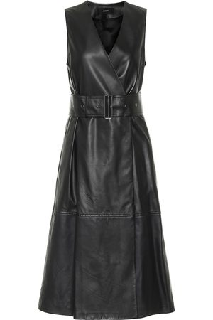 Joseph Dibo leather midi dress