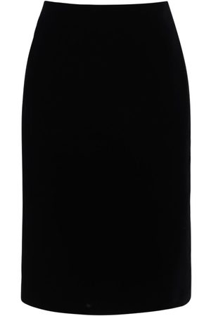 Saint Laurent Velvet Pencil Midi Skirt