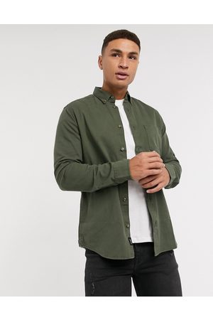 Only & Sons Overshirt with pocket in khaki