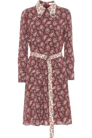 Chloé Women Printed Dresses - Floral silk crêpe de chine minidress