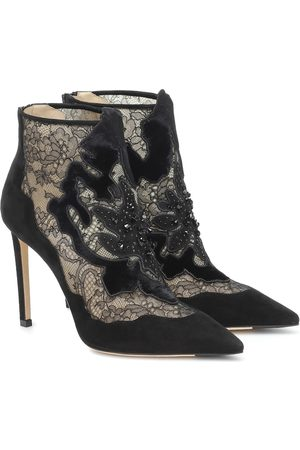 Jimmy Choo Women Ankle Boots - Lorre 100 suede and lace ankle boots