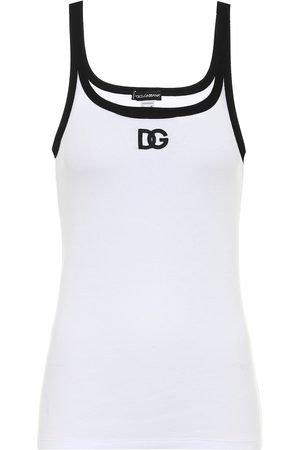 Dolce & Gabbana Logo stretch-cotton tank top