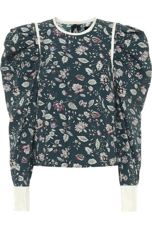 Isabel Marant Celwood cotton poplin blouse