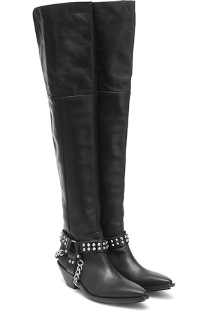 JUNYA WATANABE Women Knee High Boots - Leather over-the-knee boots