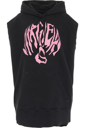 MM6 MAISON MARGIELA Logo sleeveless cotton hoodie