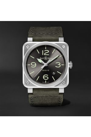 Bell & Ross BR 03-92 Automatic 42mm Stainless Steel and Leather Watch, Ref. No. BR0392-GC3-ST/SCA