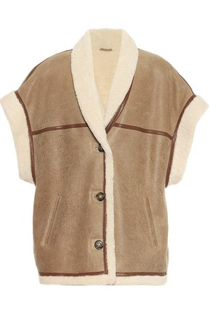 Isabel Marant, Étoile Adelia leather and shearling vest