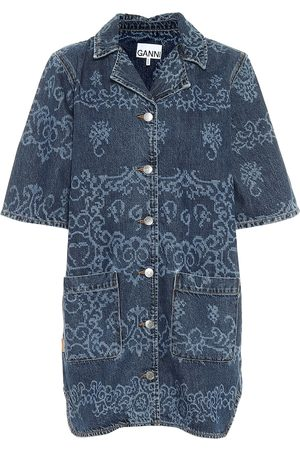 Ganni Printed denim shirt